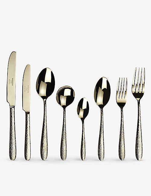 ARTHUR PRICE: Champagne Mirage 44-piece titanium-coated stainless steel cutlery set