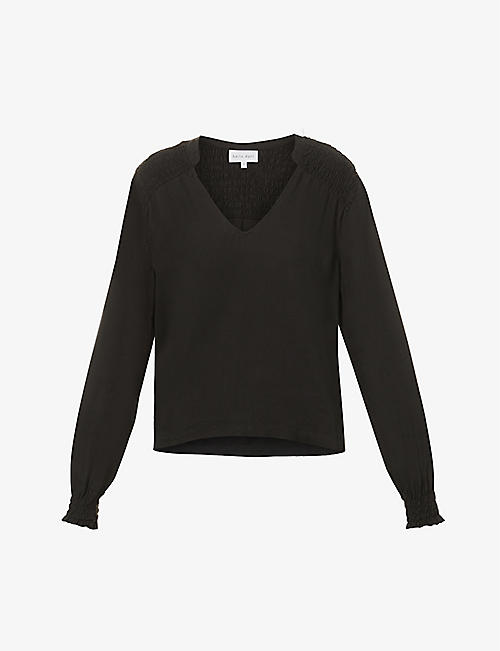 BELLA DAHL: V-neck relaxed-fit crepe top