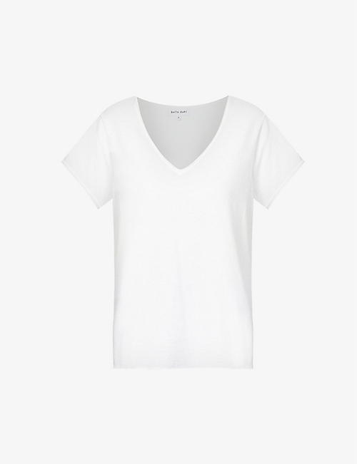 BELLA DAHL: V-neck cotton-jersey T-shirt