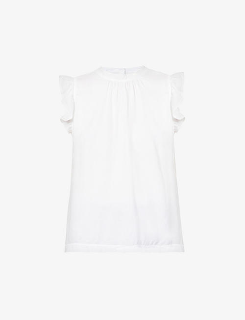 BELLA DAHL: Sleeveless cotton-jersey crepe top