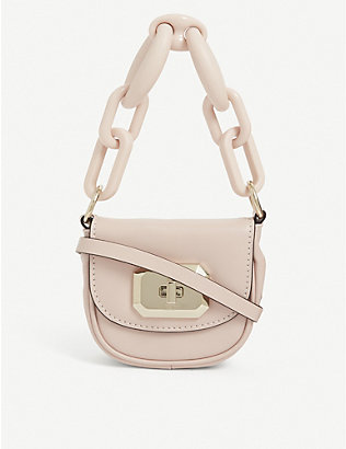 RED VALENTINO: Resina chain-link mini leather bag