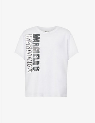 MM6 MAISON MARGIELA: Logo-printed cotton-jersey T-shirt