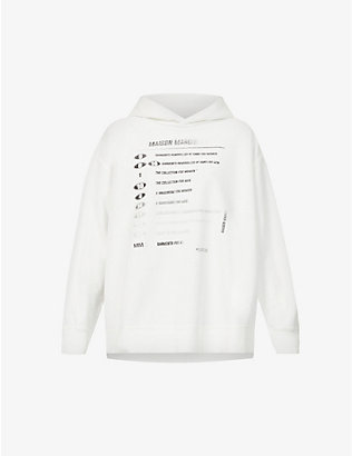 MM6 MAISON MARGIELA: Text-print cotton-jersey hoody