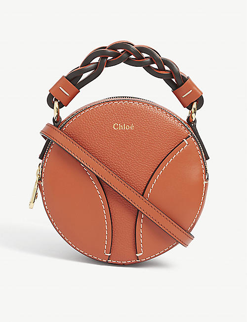 CHLOE: Daria mini round leather cross-body bag