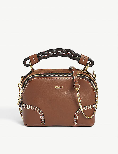 CHLOE: Daria small leather shoulder bag