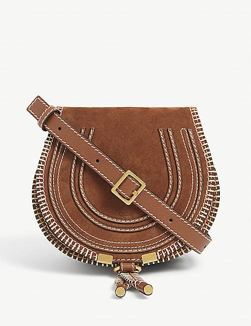 CHLOE: Marcie small suede shoulder bag