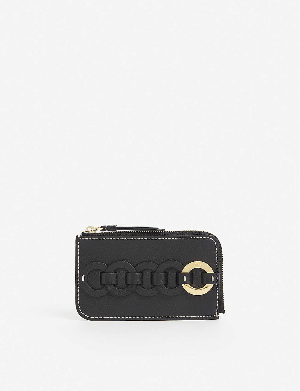 Chloé DARRYL SMALL GRAINED-LEATHER PURSE