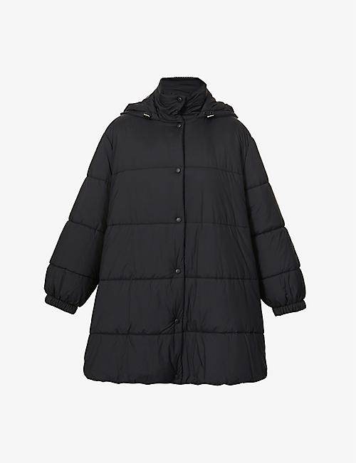 GIVENCHY: A-line quilted shell puffer jacket