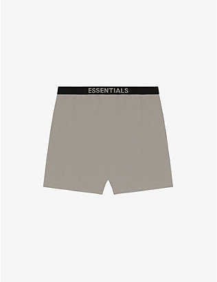 FOG X ESSENTIALS: ESSENTIALS branded-waistband cotton-blend shorts