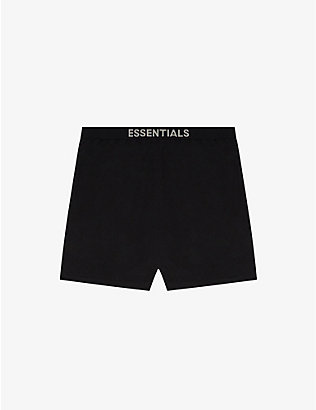 FOG X ESSENTIALS: ESSENTIALS Lounge branded cotton-blend shorts