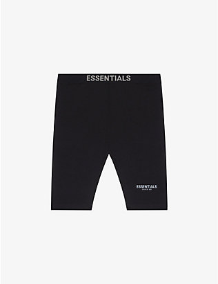 FOG X ESSENTIALS: ESSENTIALS branded-waistband stretch-woven cycling shorts
