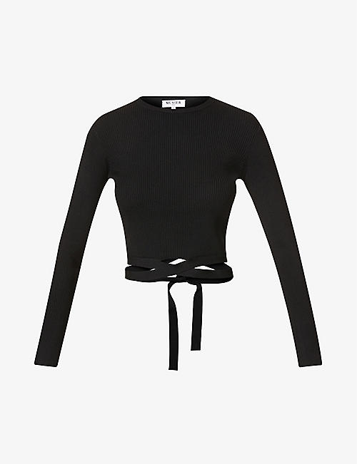 MUSIER PARIS: Giovana cropped stretch-knit top