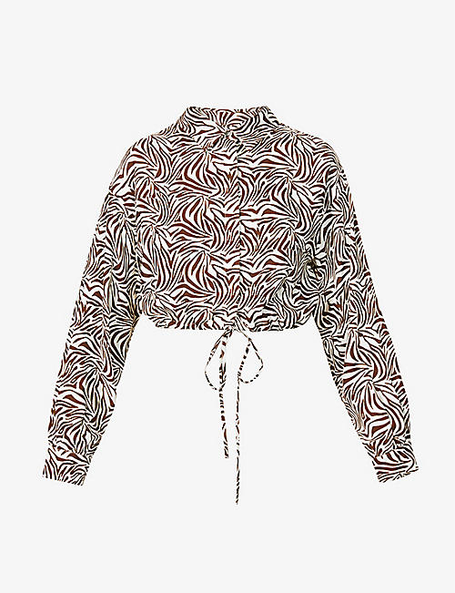 MUSIER PARIS: Catarina zebra-print woven shirt
