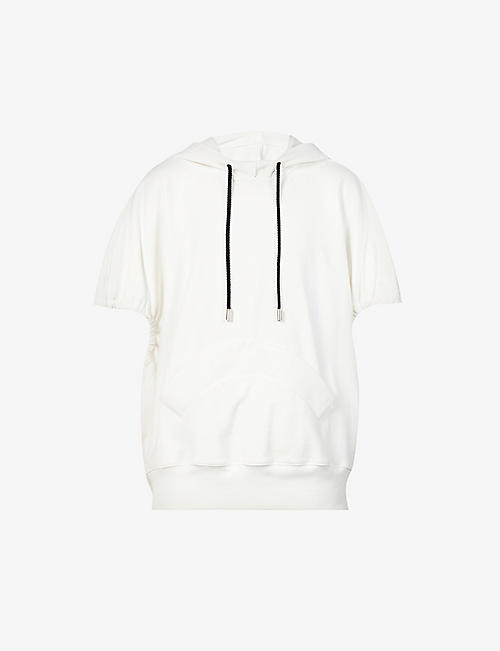 NICOMEDE: Ruched cotton-jersey hoody