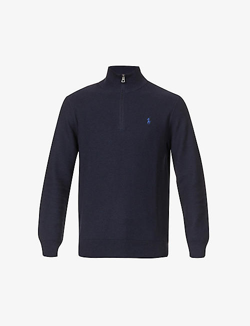 POLO RALPH LAUREN: Funnel-neck cotton-knit jumper