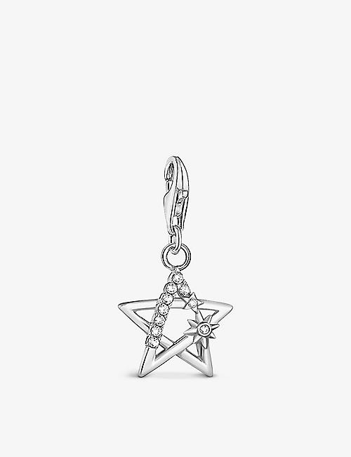 THOMAS SABO: Star sterling silver and zirconia charm