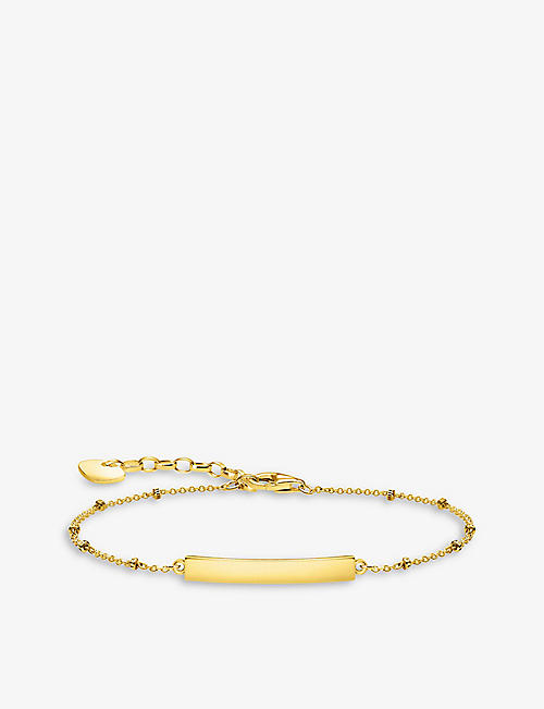 THOMAS SABO: Dots 18ct yellow gold-plated sterling silver belcher bracelet