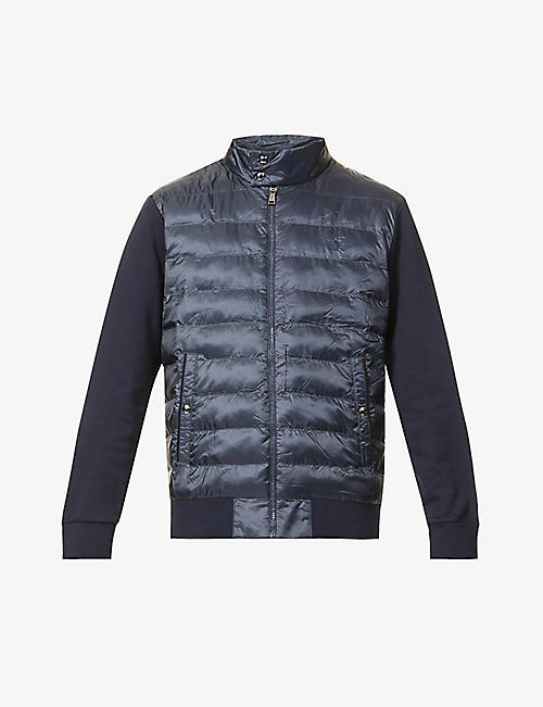 POLO RALPH LAUREN: Hybrid recycled polyester mock neck jacket