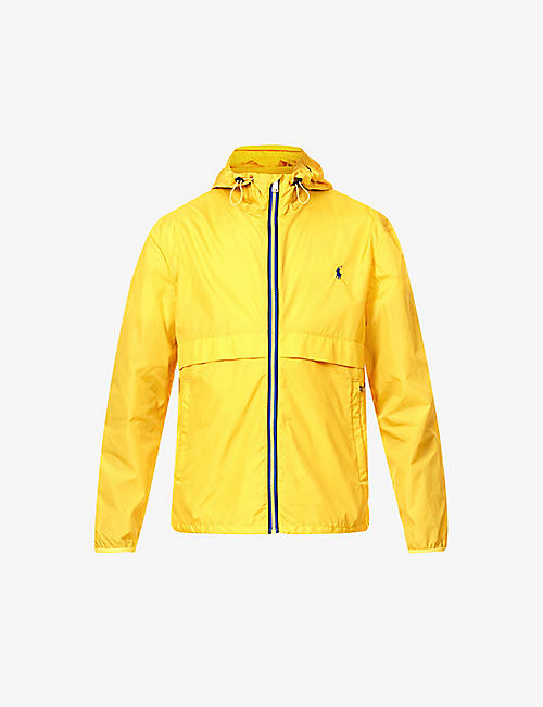 POLO RALPH LAUREN: Logo-embroidered zip-up shell jacket
