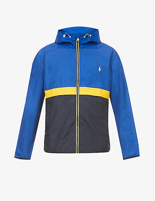 POLO RALPH LAUREN: Belport logo-embroidery shell jacket