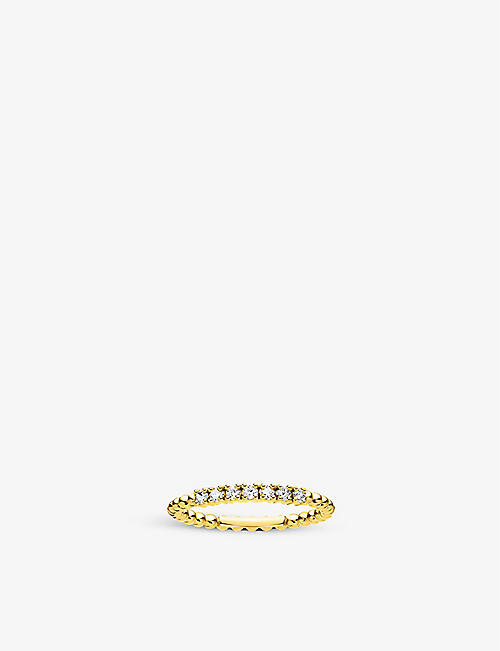 THOMAS SABO: Dot 18ct yellow gold-plated sterling silver stacking ring