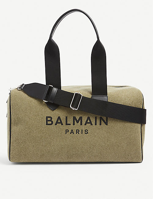 BALMAIN: B-army canvas duffle bag