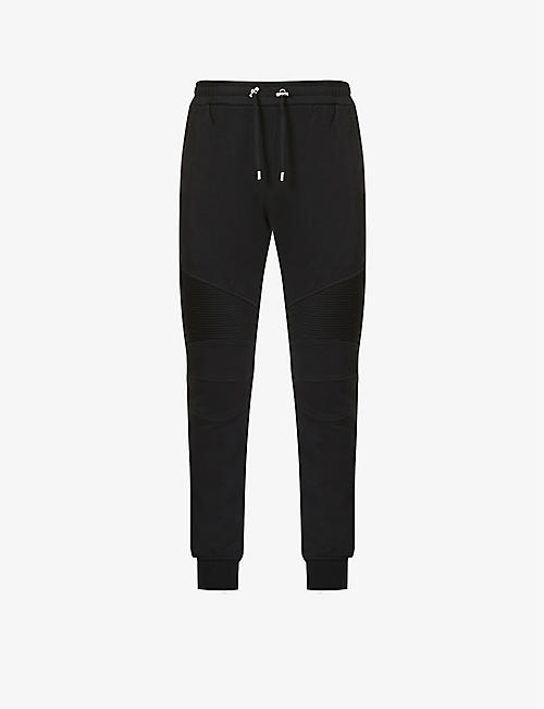 BALMAIN: Relaxed-fit cotton-jersey jogging bottoms