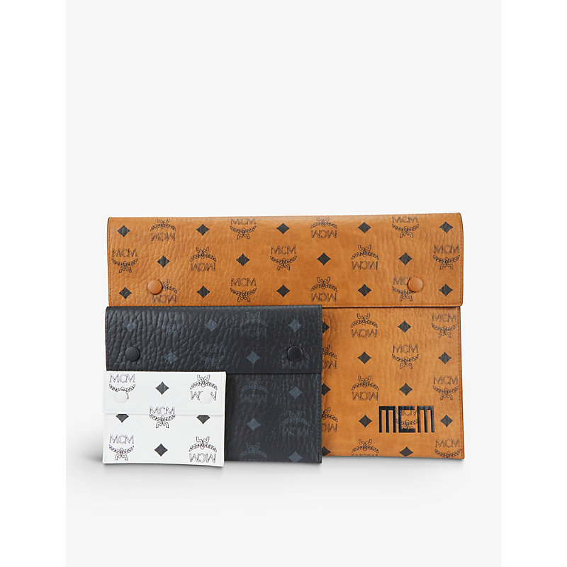 Mcm VISETOS FAUX-LEATHER POUCH SET OF THREE