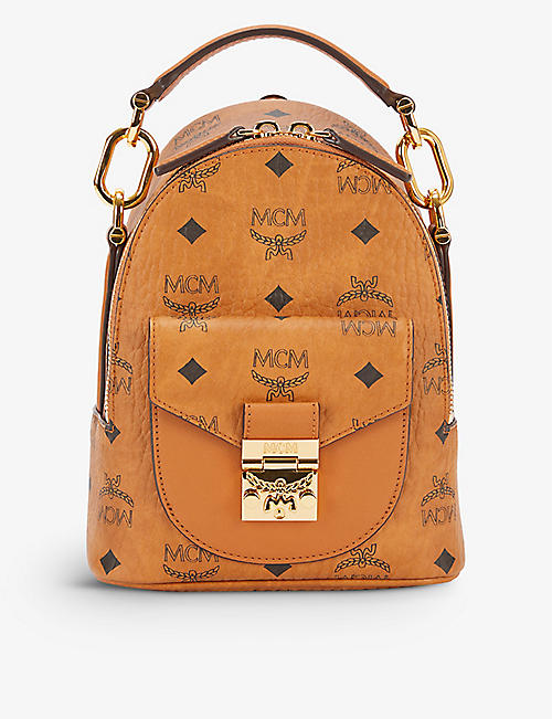 MCM: Patricia coated canvas backpack