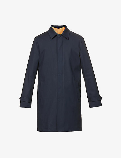 ELEVENTY: Single-breasted stretch-cotton coat