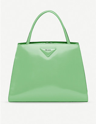 PRADA: Brushed leather handbag