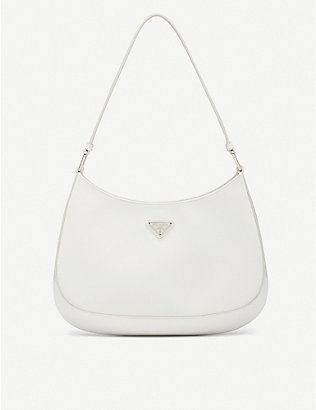 PRADA: Cleo brushed leather shoulder bag