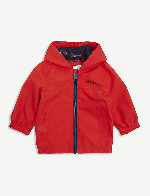 BOSS: Logo-print shell windbreaker jacket 6-36 months