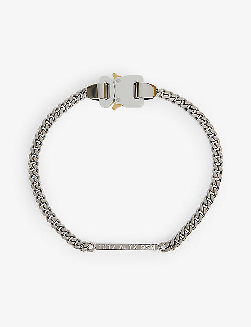 1017 ALYX 9SM: Cubix rollercoaster-buckle silver chain necklace