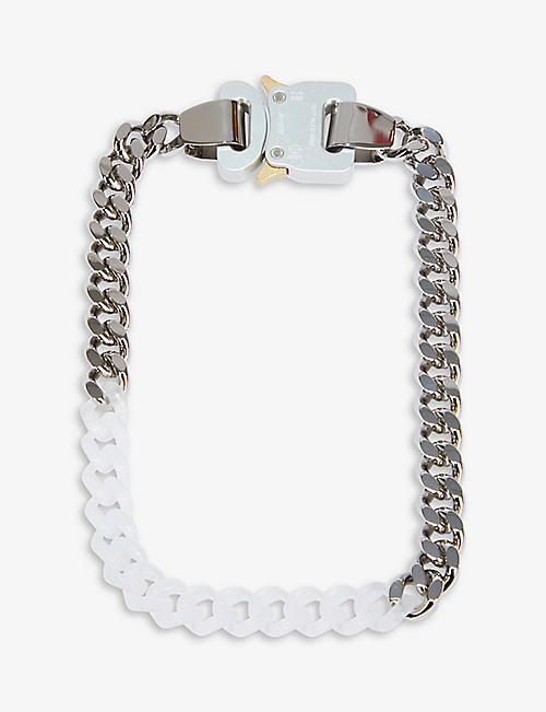 1017 ALYX 9SM: Cubic silver-tone and acrylic chain necklace