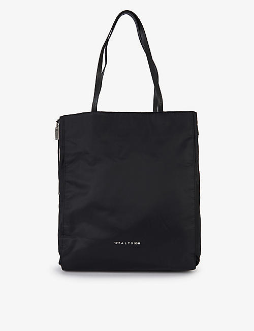 1017 ALYX 9SM: Branded shell and leather tote bag