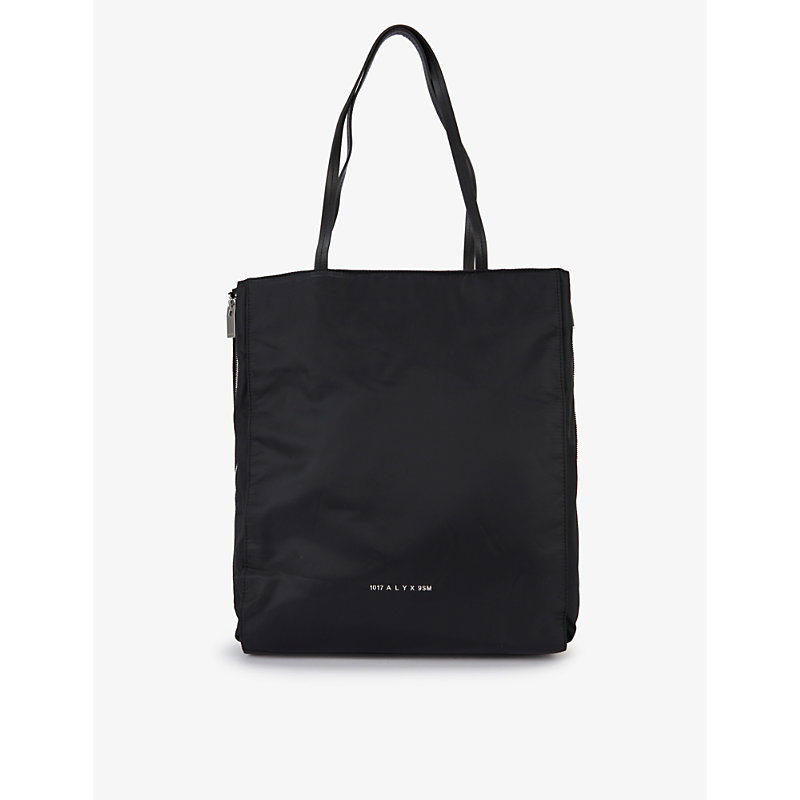 Alyx BRANDED SHELL AND LEATHER TOTE BAG