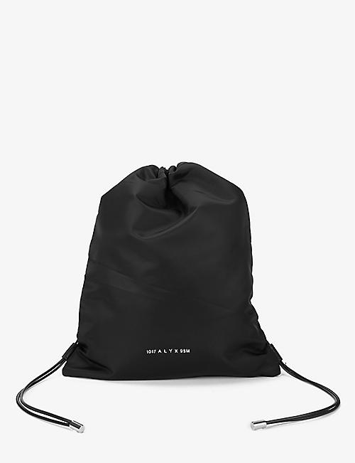 1017 ALYX 9SM: Branded shell drawstring bag