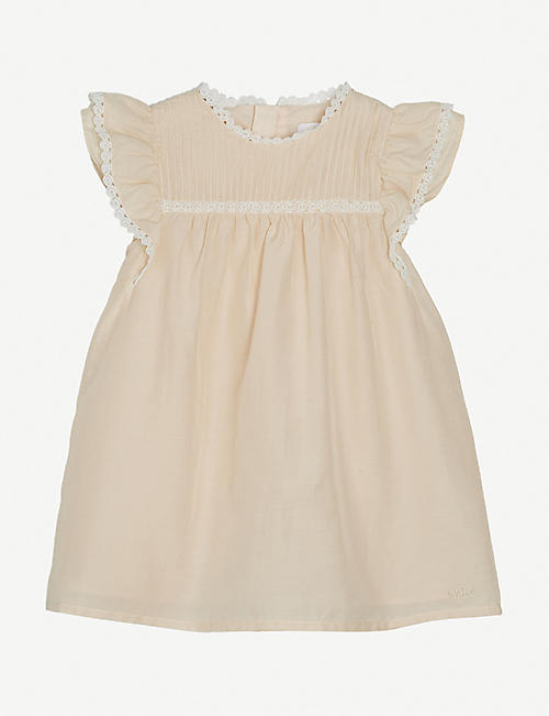 CHLOE: Lace-trim cotton-blend dress 6-36 months