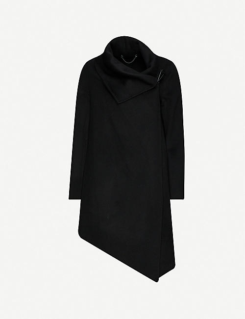 ALLSAINTS: Monument Eve recycled wool-blend coat