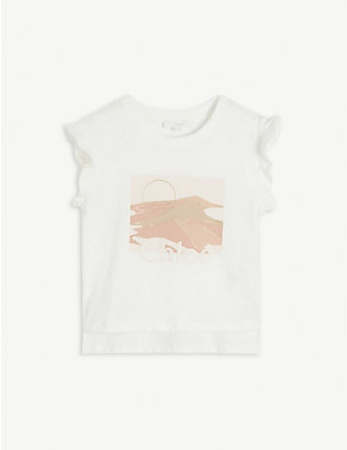 CHLOE: Graphic-print cotton T-shirt 4-14 years