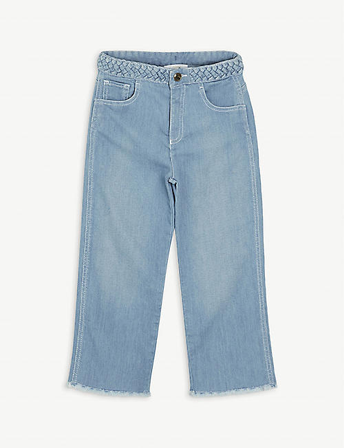 CHLOE: Fray-trimmed jeans 6-14 years