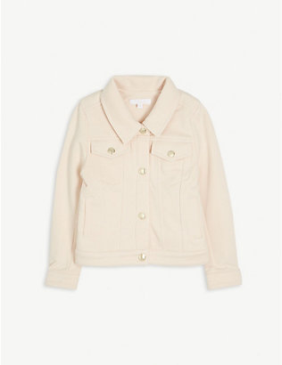 CHLOE: Relaxed-fit cotton-blend jacket 4-14 years