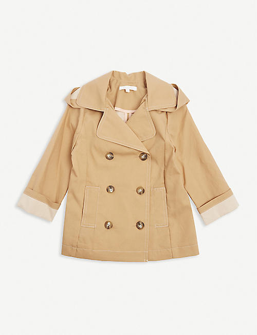 CHLOE: Hooded cotton trench coat 4 years