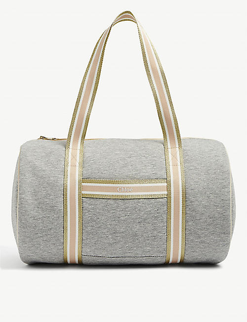 CHLOE: Kids striped cotton-blend gym bag