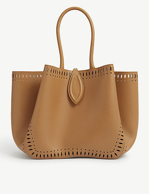 AZZEDINE ALAIA: Angèle Foulonne Petale small leather tote bag