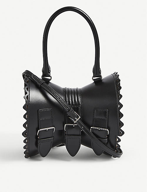 AZZEDINE ALAIA: Corset leather shoulder bag
