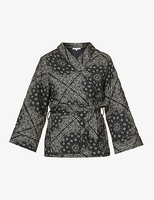LOVE STORIES: Susie quilted woven robe