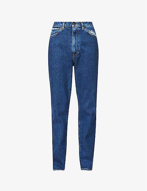 3X1: Claudia cropped slim-fit straight-leg high-rise jeans