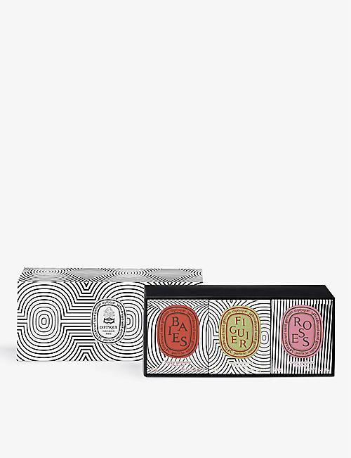 DIPTYQUE: Graphic Collection candle collection set of three